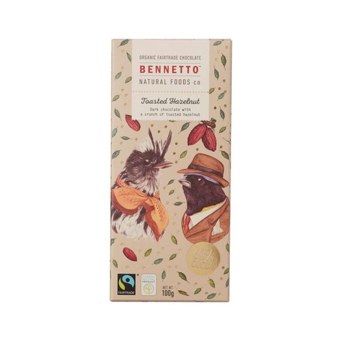 Bennetto Natural Foods Co - Toasted Hazelnut 100g - GoodnessMe