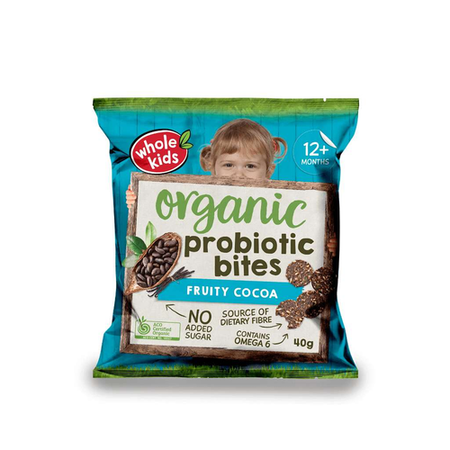 Whole Kids Probiotic Bites Fruity Cocoa - GoodnessMe