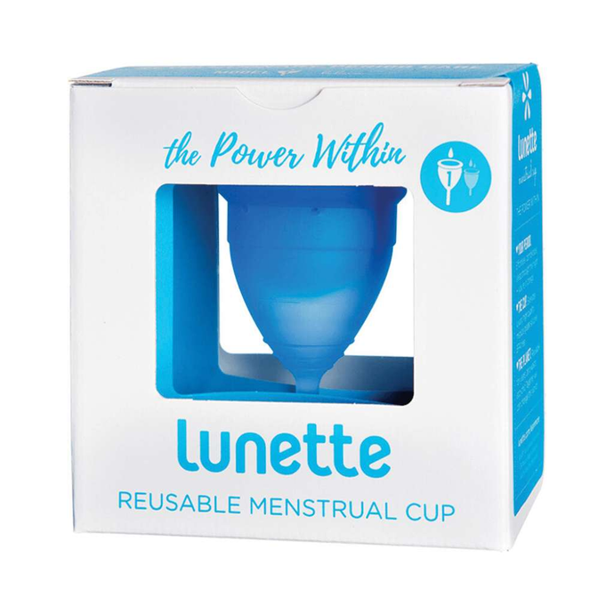 Lunette Reusable Menstrual Cup - Blue  (Light To Normal Flow) - GoodnessMe