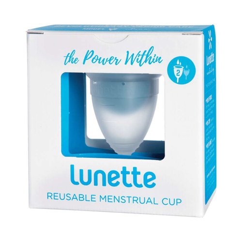 Lunette Reusable Menstrual Cup - Clear  (Normal to Heavy Flow) - GoodnessMe
