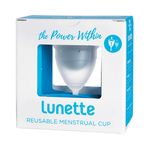 Lunette Reusable Menstrual Cup - Clear  (Light To Normal Flow) - GoodnessMe