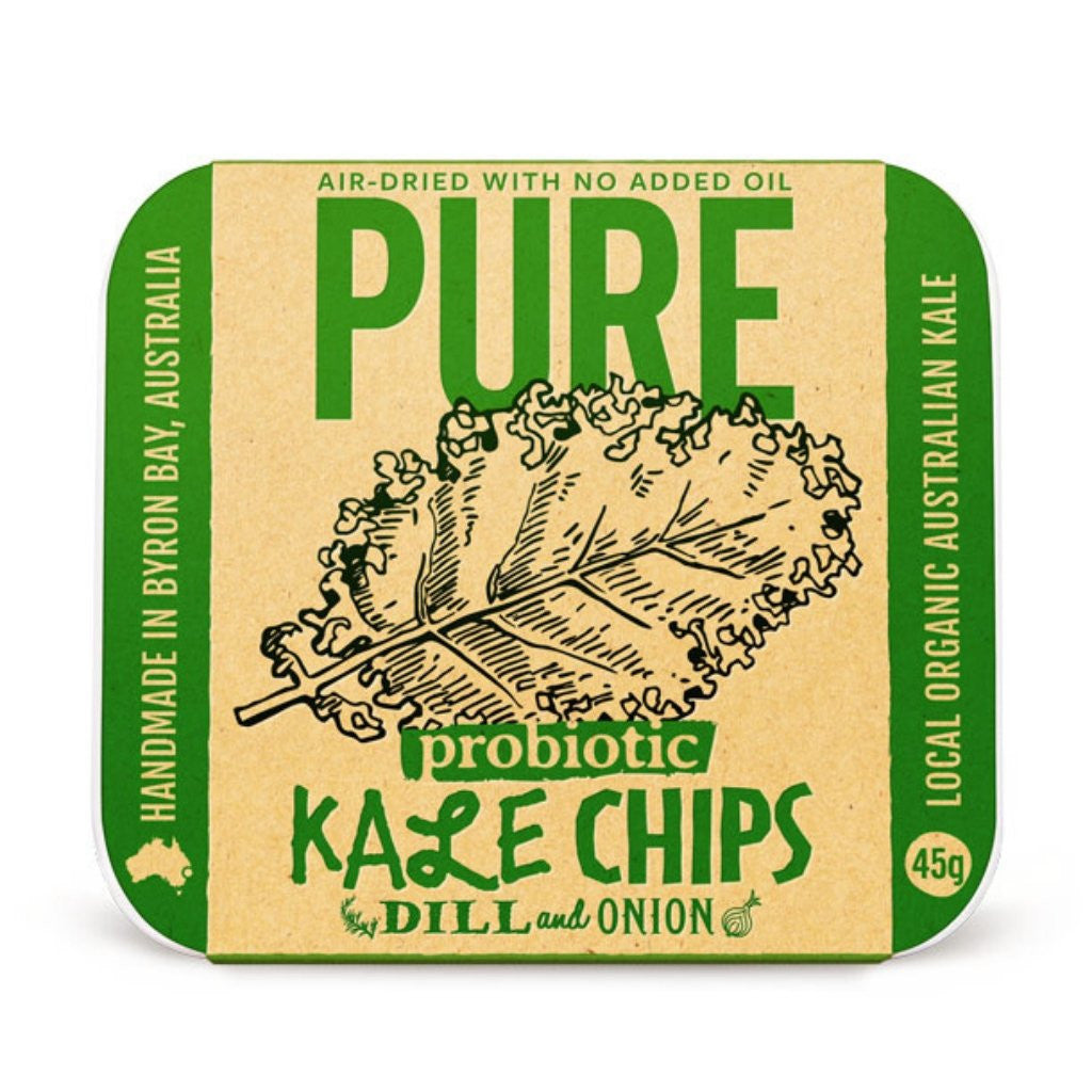 Pure Snack Kale Chips 12 Pack - Dill and Onion