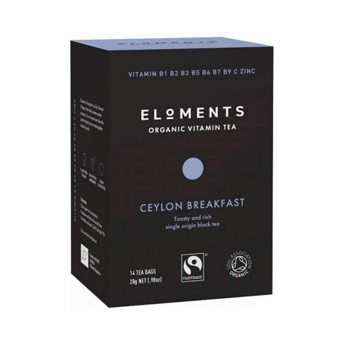 Eloments Organic Vitamin Tea Ceylon Breakfast 14 tea bags - GoodnessMe
