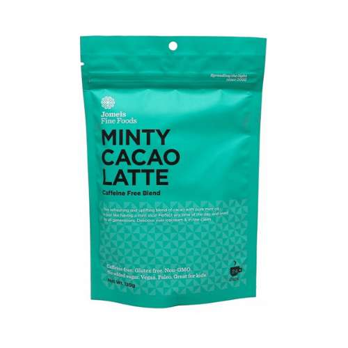 Jomeis Fine Foods	Minty Cacao Latte 120g - GoodnessMe