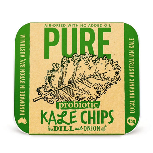 Extraordinary Foods Pure Kale Chips Dill And Onion 45g - GoodnessMe
