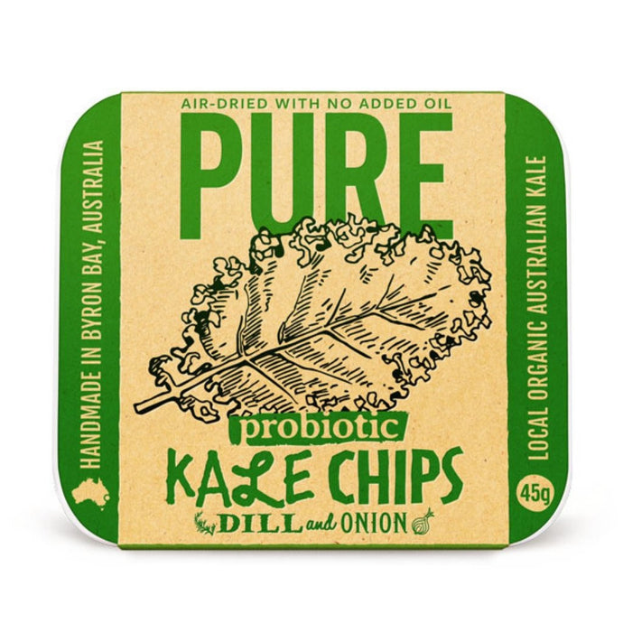 Extraordinary Foods Pure Kale Chips Dill And Onion 45g