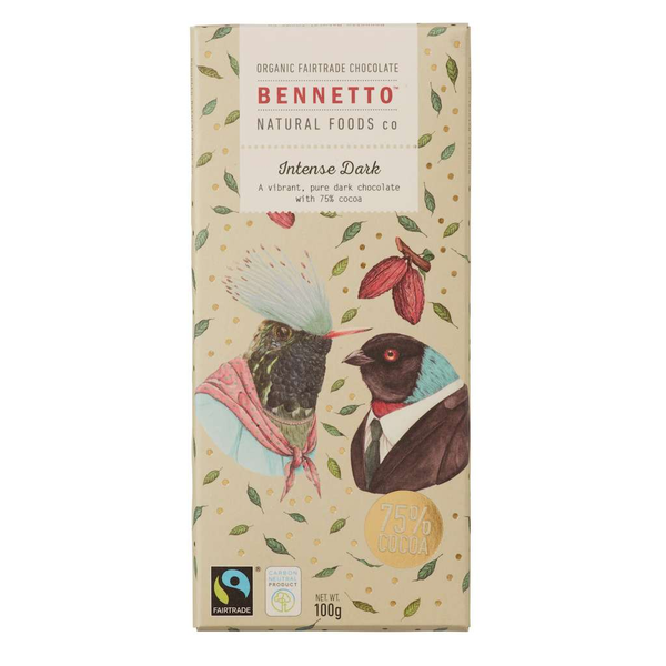 Bennetto Natural Foods co Intense Dark 14 x 100g Bars