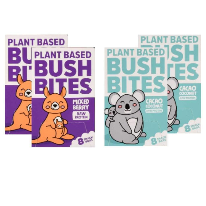 Bush Bites School Lunch Box Friendly 4 Pack - GoodnessMe