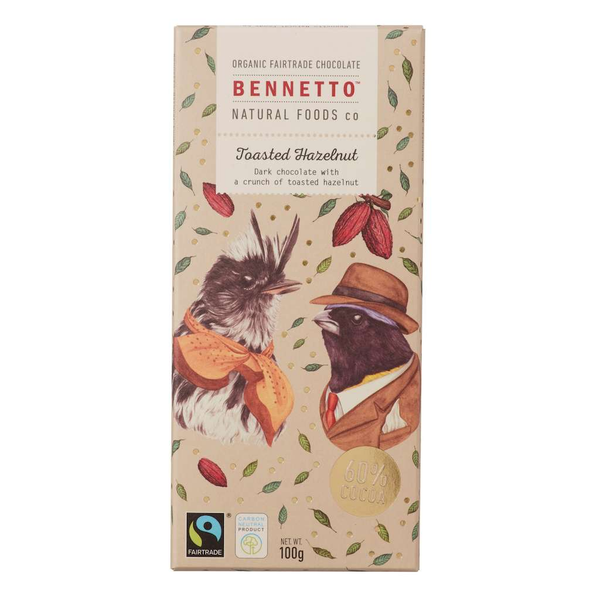 Bennetto Natural Foods co Toasted Hazelnut 14 x 100g Bars