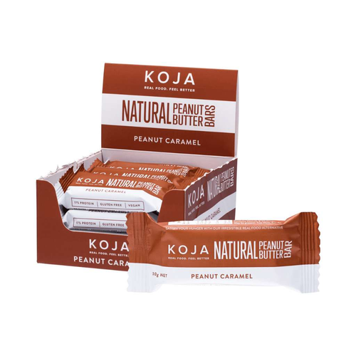 Koja Natural Peanut Butter Bar Peanut Butter Caramel 30g - GoodnessMe
