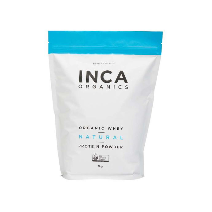 Inca Organics Certified Organic Whey Natural Protein Powder 1kg - GoodnessMe