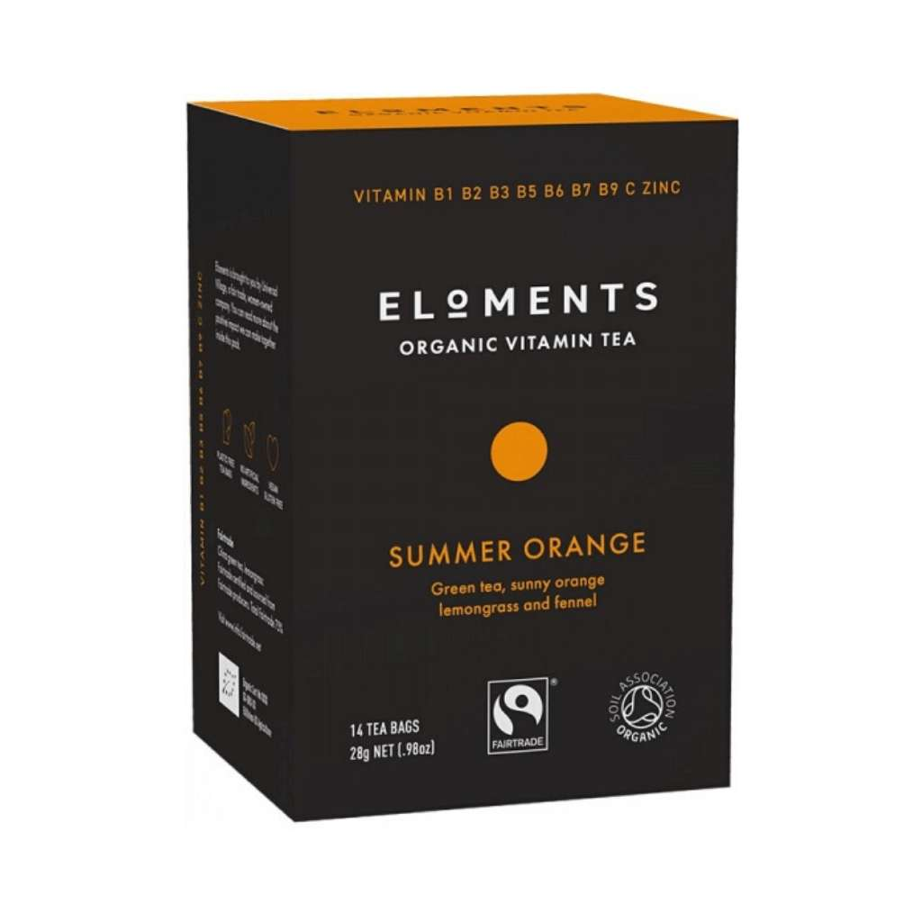 Eloments Organic Vitamin Tea Summer Orange 14 tea bags
