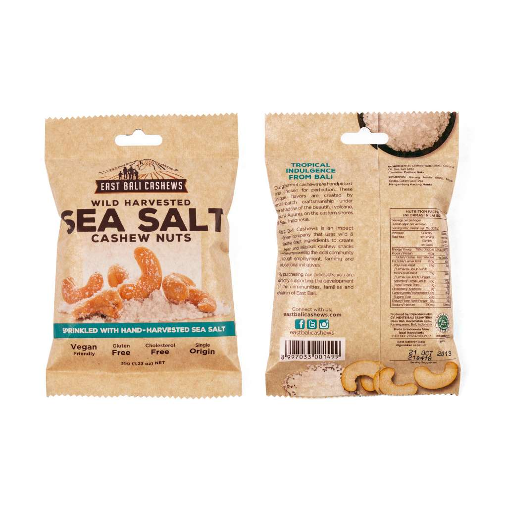 East Bali Cashews Sea Salt Cashew Nuts 35g