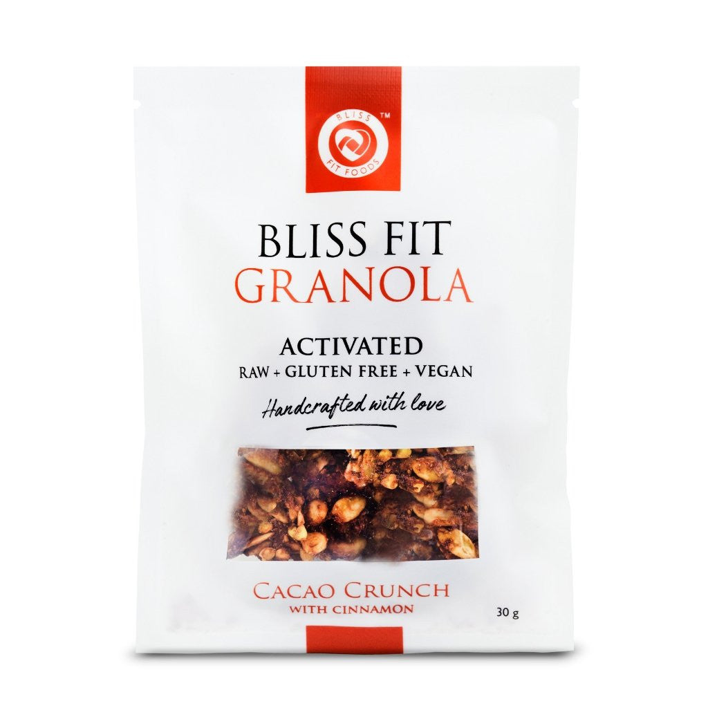 Bliss Fit Foods Activated Granola Cacao Crunch with Cinnamon