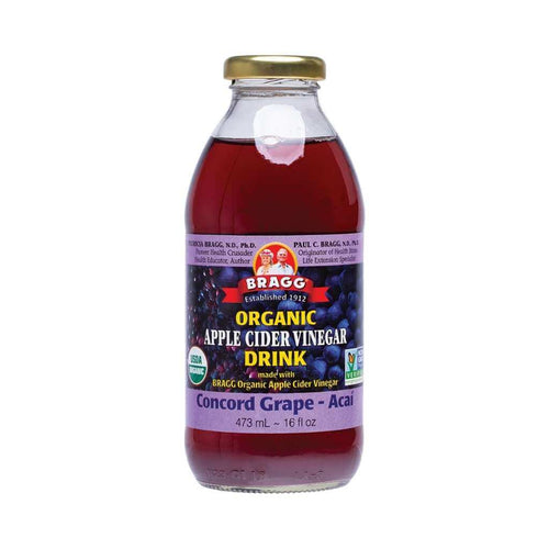 Bragg Apple Cider Vinegar Drink ACV with Grape & Acai 473ml
