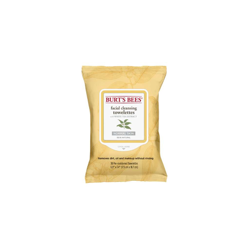 Burt's Bees Facial Cleansing Towelettes With White Tea Extract 30 Pack - GoodnessMe