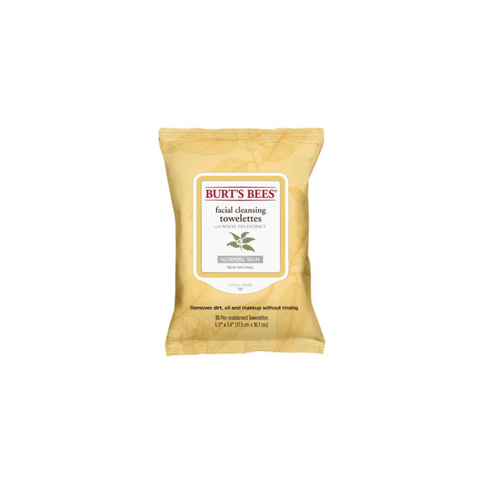 Burt's Bees Facial Cleansing Towelettes With White Tea Extract 30 Pack