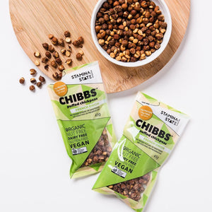 Stamina State Snacks	Chibbs – puffed chickpeas French Onion 45g