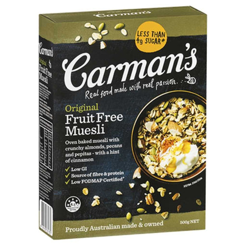 Carman's Original Fruit Free Muesli 500g