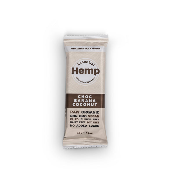 Hemp Foods Australia Hemp Snack Bar Choc Banana Coconut