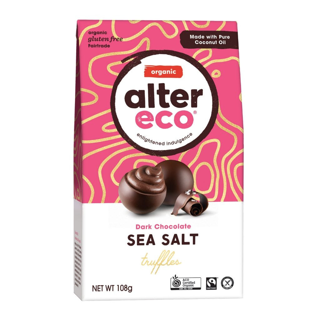 Alter Eco Dark Chocolate Sea Salt Truffles
