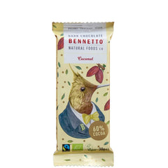 Bennetto Natural Foods	Coconut Dark Chocolate 30g