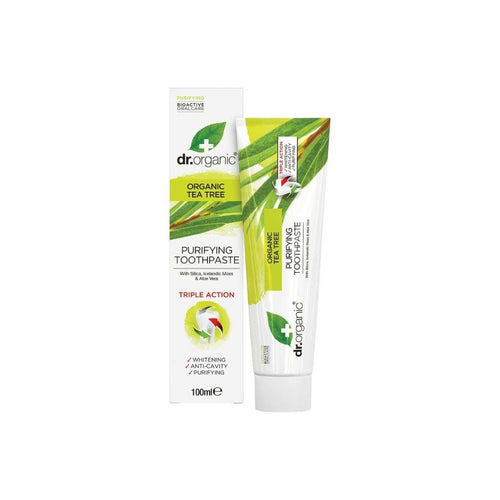 Dr Organic Toothpaste (Purifying) Organic Tea Tree 100ml