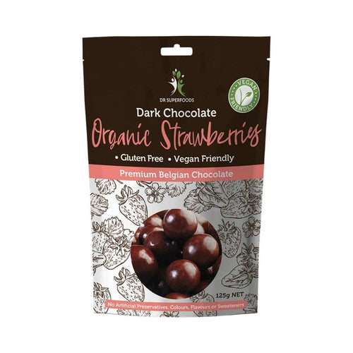 Dr Superfoods Strawberries Organic Dark Chocolate 125g