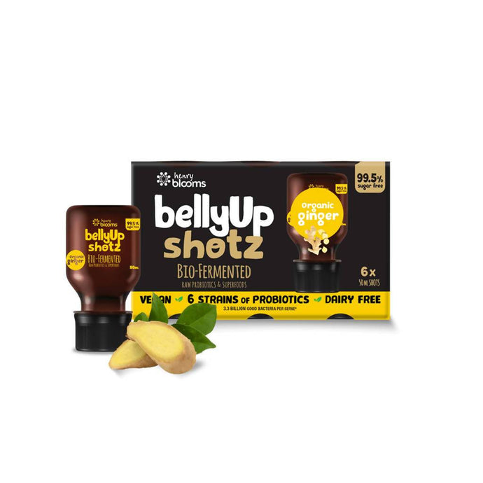 BellyUp Shotz Organic Ginger (6x50ml) x4