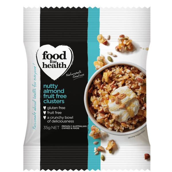 Food for Health Pty Ltd Nutty Almond Clusters 425g