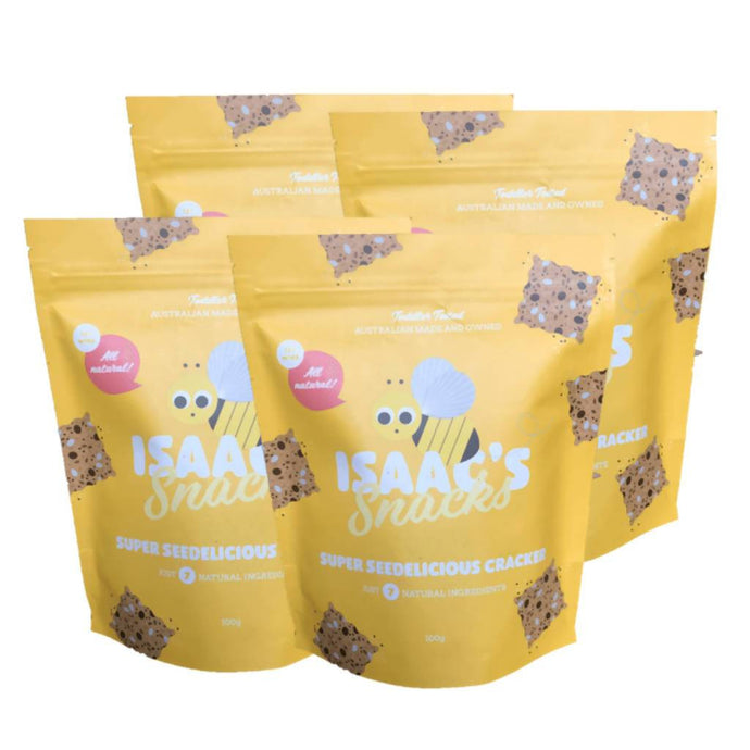 Isaac's Snacks Seedelicious Crackers 4x 100g - GoodnessMe