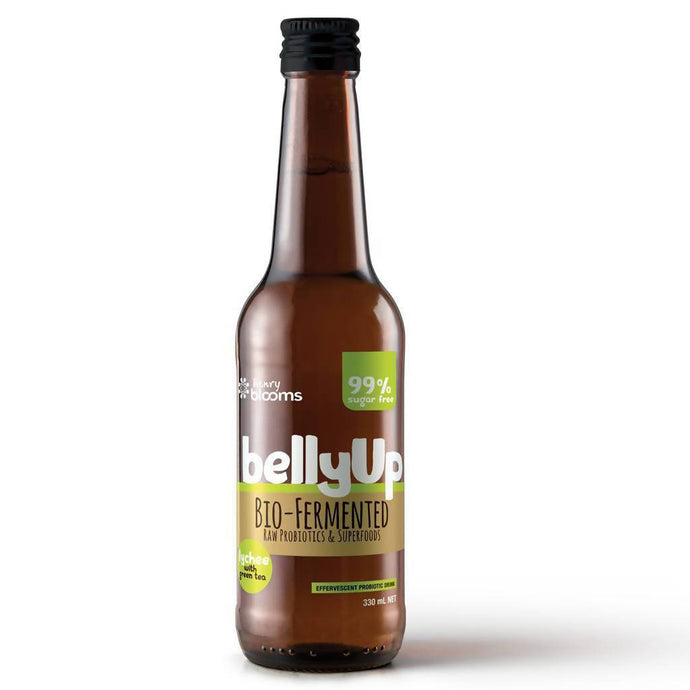 BellyUp Lychee with Green Tea 330mL x24 - GoodnessMe
