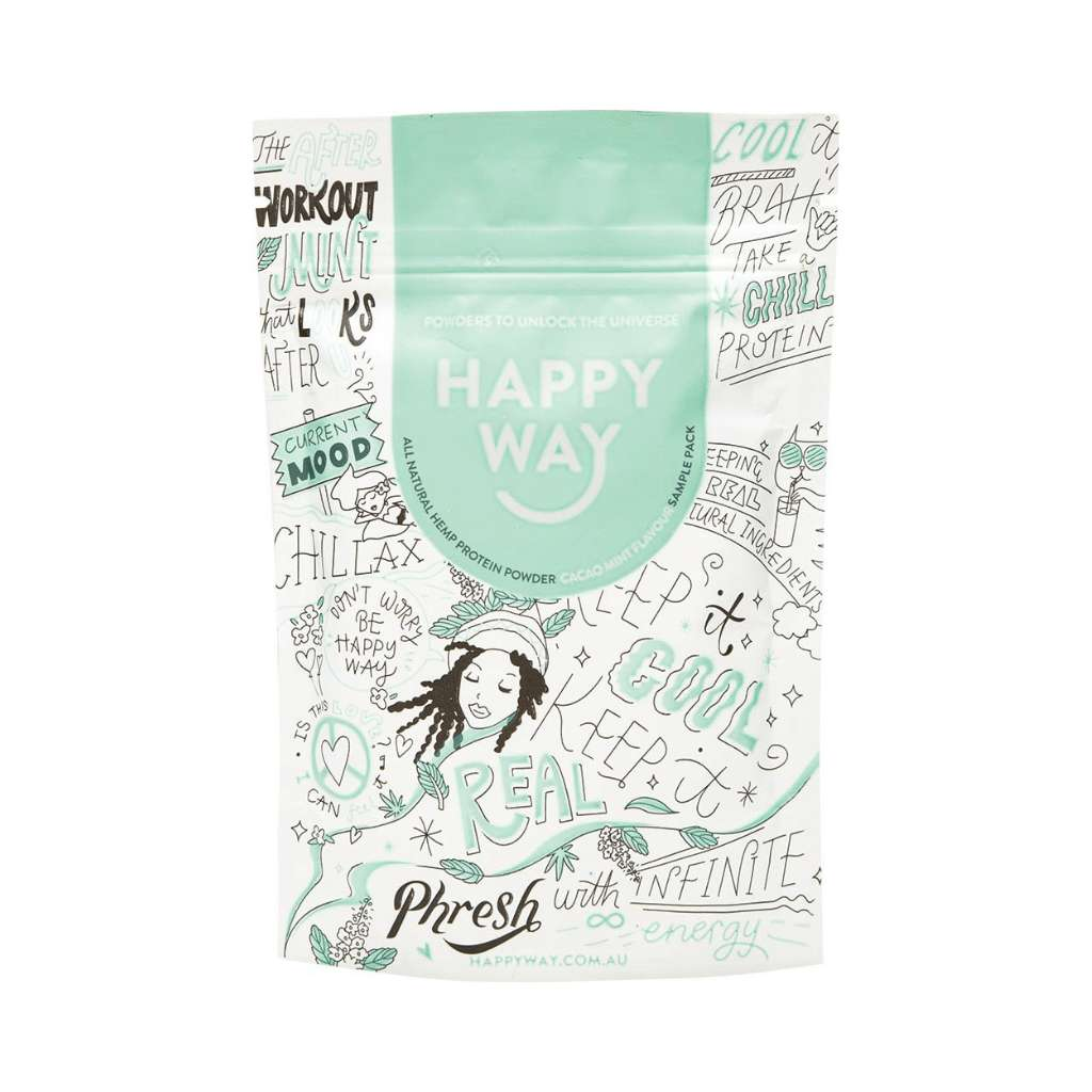 Happy Way Vegan Hemp Protein Cacao Mint 60g