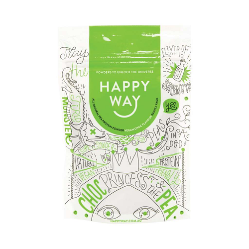 Happy Way Vegan Pea Protein Chocolate 60g - GoodnessMe