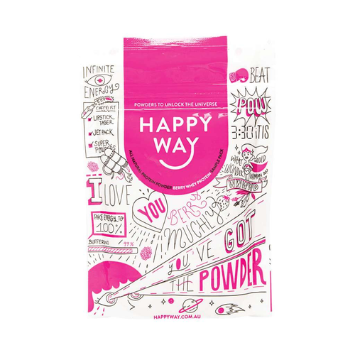 Happy Way Whey Protein Berry 60g - GoodnessMe