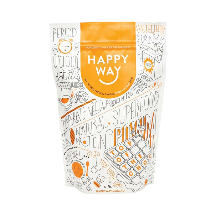 Happy Way Whey Protein Chocolate 500g - GoodnessMe