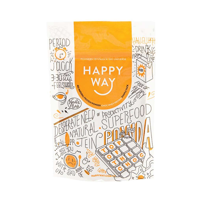 Happy Way Whey Protein Chocolate 60g - GoodnessMe