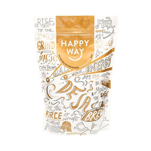 Happy Way Whey Protein Coffee 500g - GoodnessMe