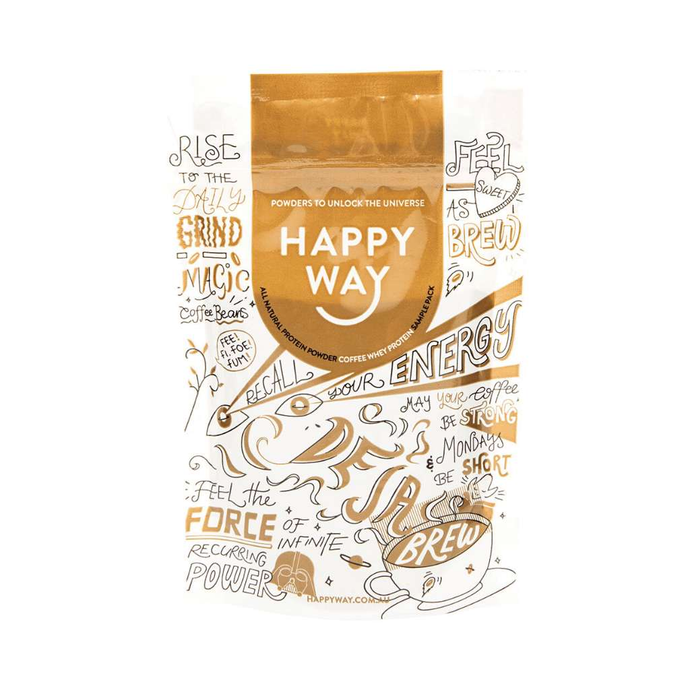 Happy Way Whey Protein Coffee 60g - GoodnessMe