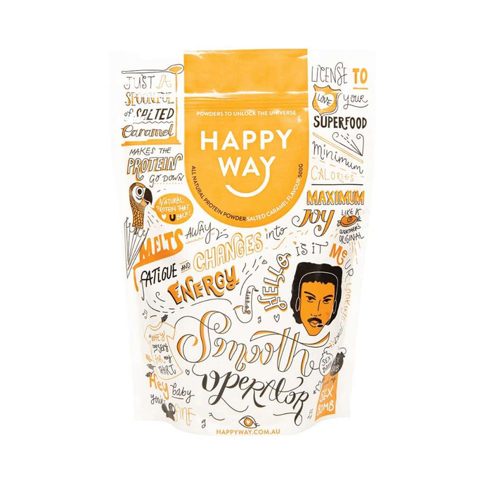 Happy Way Whey Protein Salted Caramel 500g - GoodnessMe