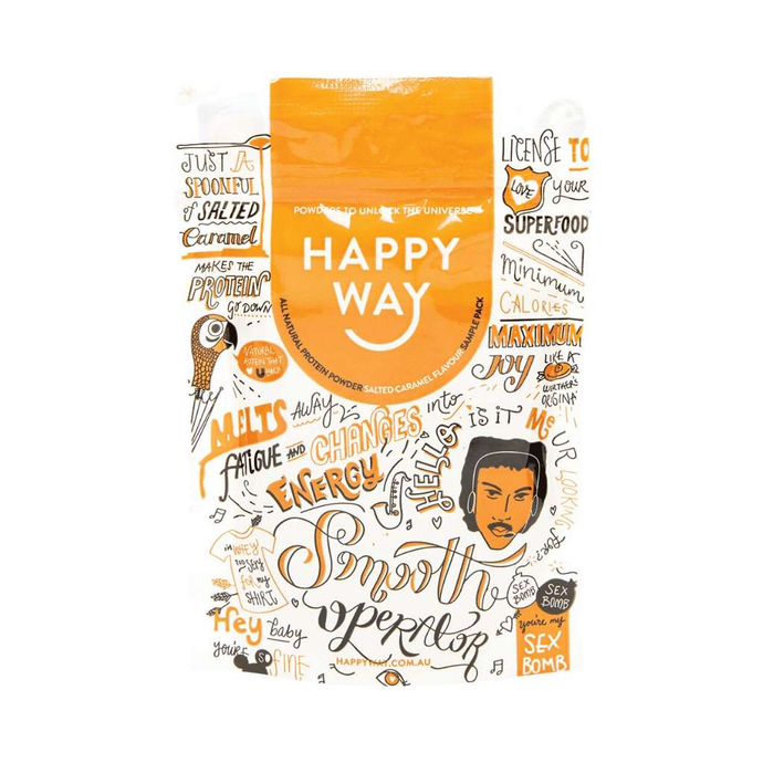 Happy Way Whey Protein Salted Caramel 60g - GoodnessMe