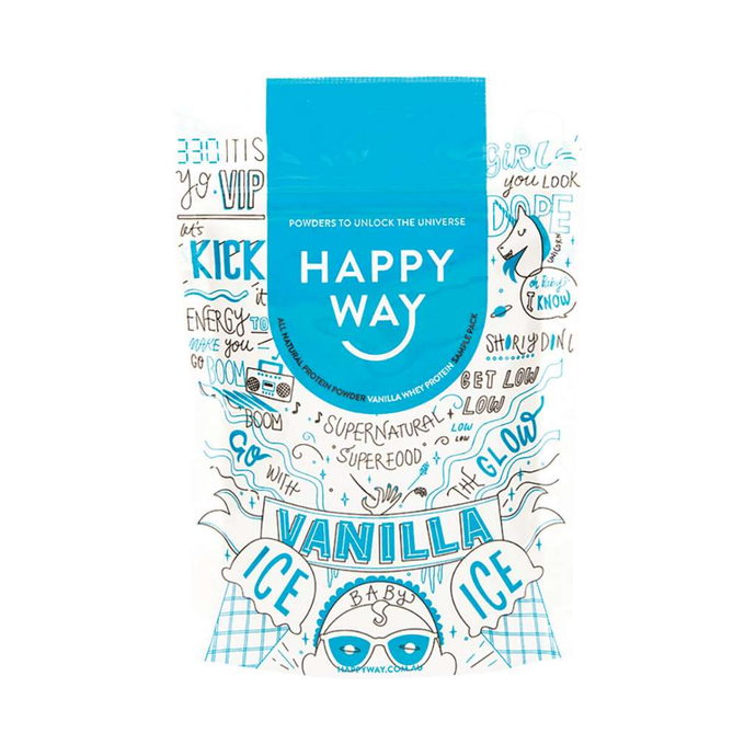 Happy Way Whey Protein Vanilla 60g - GoodnessMe