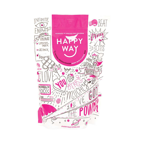 Happy Way Whey Protein Berry 500g - GoodnessMe