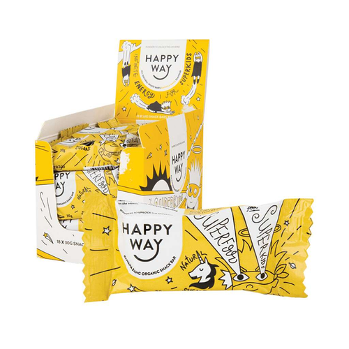 Happy Way Kid's Snack Bar Banana 18x 30g - GoodnessMe