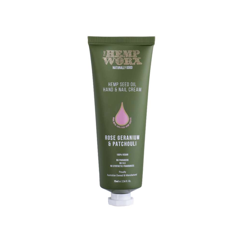 Hemp Worx Rose Geranium & Patchouli Hand Cream 3x 75ml - GoodnessMe