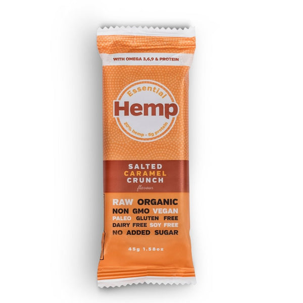 Hemp Foods Australia Hemp Snack Bar Salted Caramel Crunch