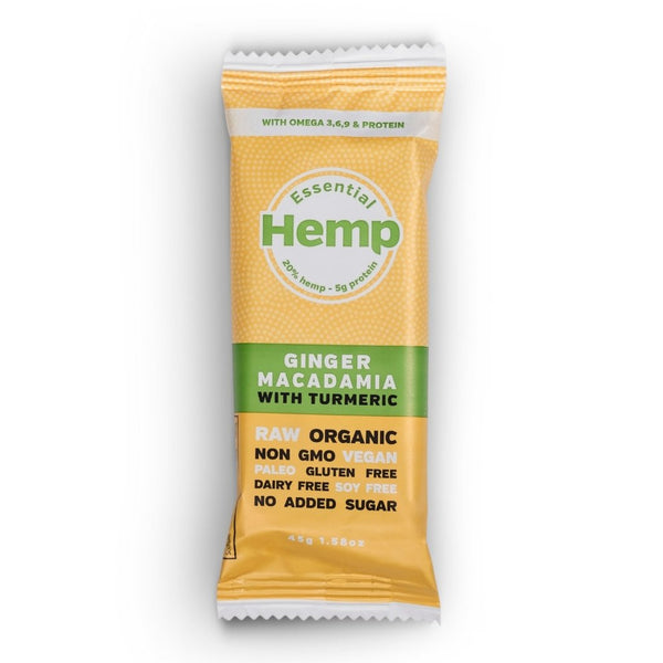 Hemp Foods Australia Hemp Snack Bar Ginger Macadamia with Turmeric