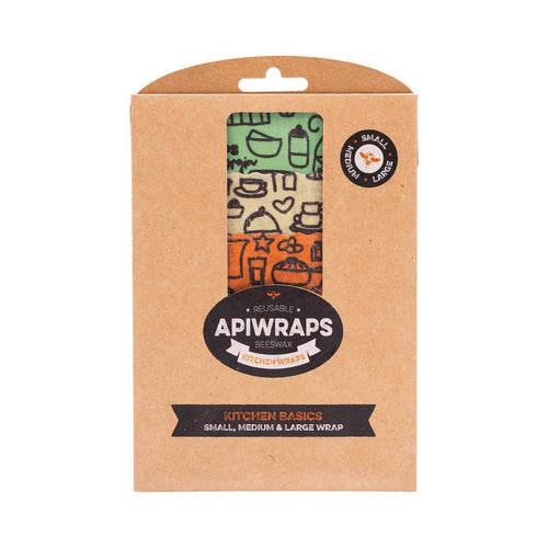 GoodnessMe Market APIWRAPS Reusable Beeswax Wraps Kitchen Basics