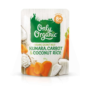 Only Organic Kumara, Carrot & Coconut Rice 170g