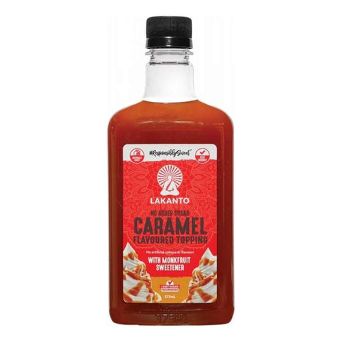Lakanto Caramel Flavoured Topping Monkfruit Sweetener 375mL